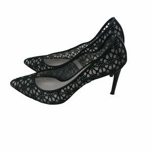 JASON WU Black Crochet Lace Pump Size:37